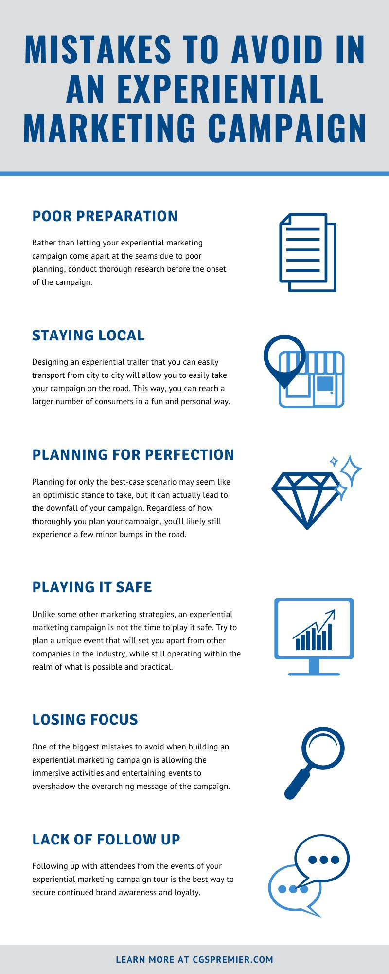 Mistakes to Avoid in an Experiential Marketing Campaign infographic